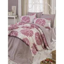 Ružový bavlnený pléd na dvojlôžko s oblie&am...