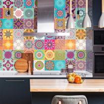 Sada 30 nástenných samolepiek Ambiance Wall Stickers Tiles Azulejos Mariska, 15&am...