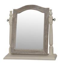 Zrkadlo v krémovobielom ráme z topoľového dreva Livin Hill Pesa...