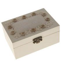 Drevená krabica na šitie Antic Line Buttons