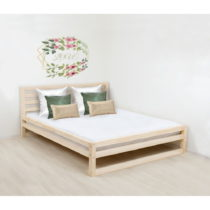 Drevená dvojlôžková posteľ Benlemi DeLuxe Naturelle, ...