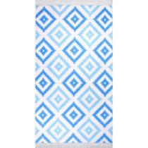 Koberec Vitaus Hali Cift Renk Mavi, 80×150cm