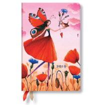 Diár na rok 2019 Paperblanks Poppy Field Horizontal, 9,5×14 cm