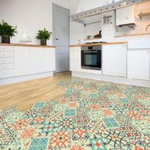 Sada 10 samolepiek na podlahu Ambiance Floor Stickers Hexagons Lieva, 40×&#xA...