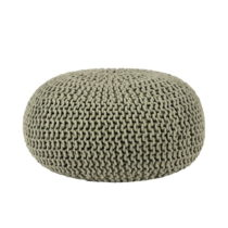 Olivovozelený pletený puf LABEL51 Knitted, ⌀70 cm