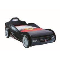 Čierna detská posteľ v tvare auta Coupe Carbed Black, 90 × 190...