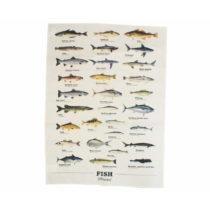 Utierka z bavlny Gift Republic Multi Fish, 50 x 70 cm
