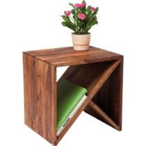 Príručný stolík z palisandrového dreva Kare Design Zig...