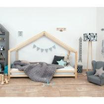 Detská posteľ z prírodného smrekového dreva Benlemi Si...