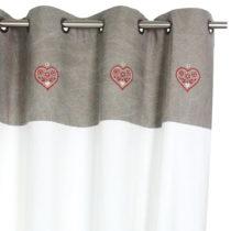 Záves Antic Line Heart, 150x260cm