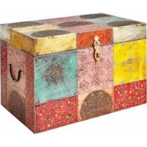 Farebná úložná truhla z mangového dreva Støra...