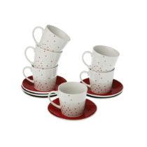 Sada 6 hrnčekov na čaj s tanierikmi VERSA Tea