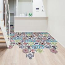Sada 10 samolepiek na podlahu Ambiance Floor Stickers Hexagons Hannah, 40×&#x...