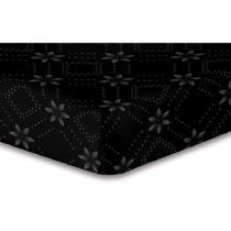 Čierna elastická plachta so vzorom DecoKing Hypnosis Snowynight, 220&am...