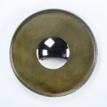 Nástenné zrkadlo s kovovým rámem Thai Natura, ∅ 71 cm