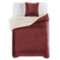 Tmavočervené obliečky z mikrovlákna DecoKing Teddy, 135&#x...