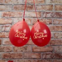 Sada 8 červených balónikov Neviti Dazzling Christmas