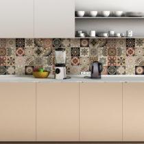 Sada 24 nástenných samolepiek Ambiance Wall Stickers Tiles Piura, 10&...
