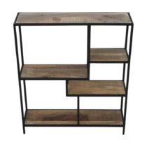 Knižnica z mahagónového dreva HSM collection Levels, 70 × 80 cm