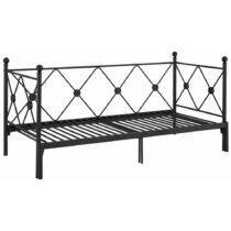 Čierna rozkladacia jednolôžková posteľ Stør...