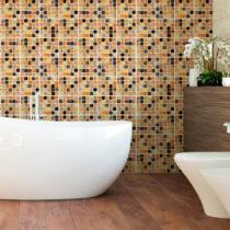 Sada 9 nástenných samolepiek Ambiance Wall Decal Tiles Mosaics Sanded Grade, 15&am...