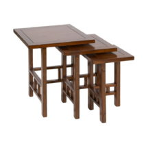 Sada 3 stolíkov z dreva mindi Santiago Pons Hula