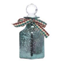 Zelená sklenená dekoratívna fľaša Ewax