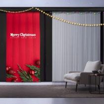 Vianočný záves Christmas, 140 x 260 cm