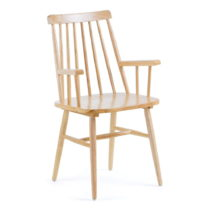 Prírodná jedálenská stolička z dreva kaučuko...