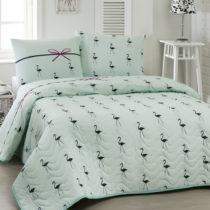 Prikrývka cez posteľ na dvojlôžko s obliečky na vank...