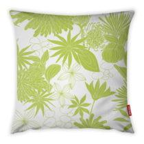 Limetkovozeleno-biela obliečka na vankúš Vitaus Jungle Verde, 43&#x...