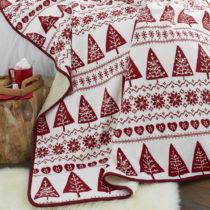 Červený pléd Catherine Lansfield Nordic Winter, 170×&...