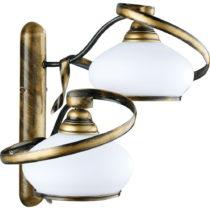 Nástenné dvojramenné svietidlo s bielym tienidlom Glimte Retro, &#x23...