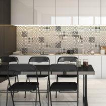 Sada 9 nástenných samolepiek Ambiance Wall Decal Cement Scandinavian Tiles Finland...