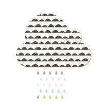 Dekoratívna samolepiaca nástenka Dekornik White Cloud With Pastel Drops, 57&#x...