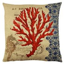 Vankúš s výplňou Gravel Red Tree II, 43×&am...