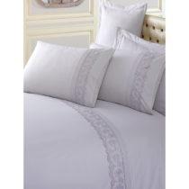 Sivé obliečky z bavlny s plachtou na dvojlôžko Brode, 200&...