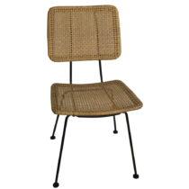 Hnedá stolička s výpletom z prútia Simla Wicker