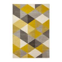 Koberec so žltými detailmi Kokoon Muoto, 160×230 cm