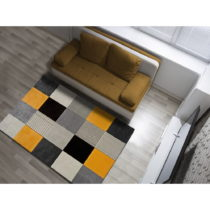 Oranžovo-sivý koberec Universal Gladys Lento, 160 × 230 cm
