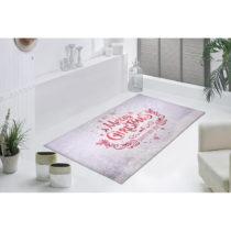 Bielo-červený koberec Vitaus We Wish You, 50×80 cm