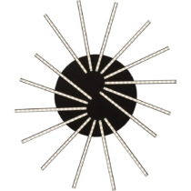 Čierne nástenné LED svietidlo Kare Design Radiation Black