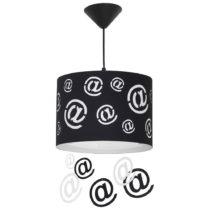 Čierne závesné svietidlo Glimte Mail Big