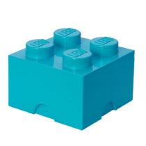 Azúrovomodrý úložný box štvorec LEGO&#xA...