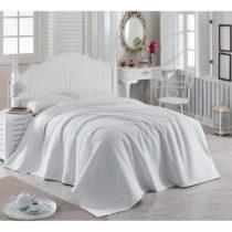 Biely bavlnený pléd cez posteľ Magnona, 200×&#xA0...