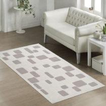 Béžový odolný koberec Vitaus Mozaik Bej, 140 x 200 cm