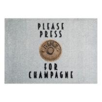 Sivá rohožka Mint Rugs StateMat Please Press, 50 × 75 cm