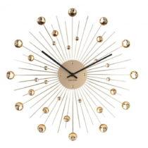 Nástenné hodiny z krištáľu zlatej farby Karlsson Sunb...