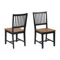 Hnedo-čierna jedálenská stolička Actona Brisbane