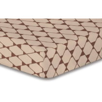 Béžová elastická plachta so vzorom DecoKing Rhombuses, 220&...